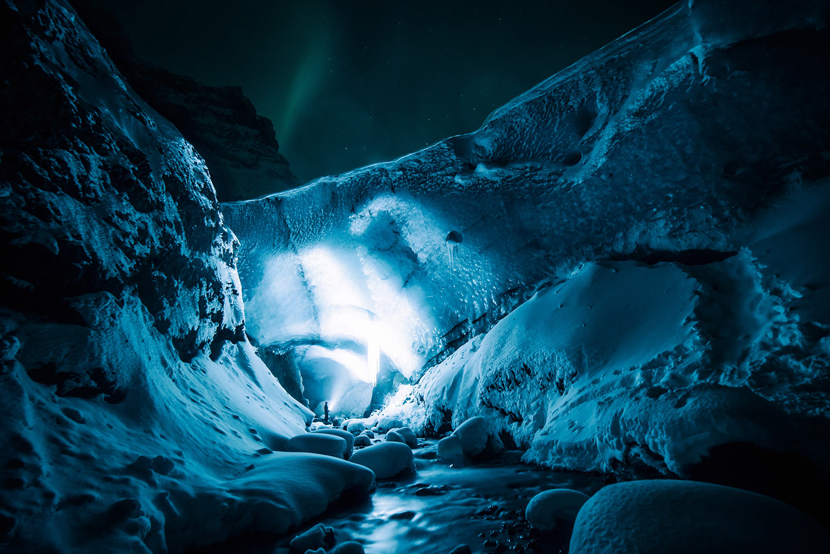 Exploring the great ice cavern